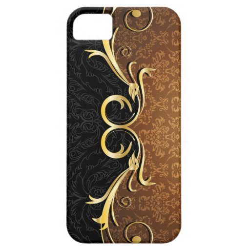 Baroque Scrolls and Damask iPhone 5 Case