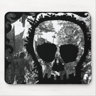 Baroque Skull Mouse Pad
