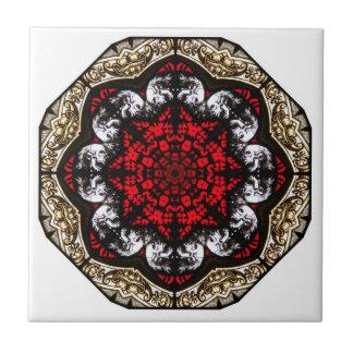 Baroque Skull Rose Tile