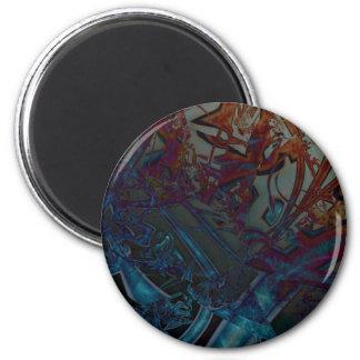 Baroque Spire 2 Inch Round Magnet