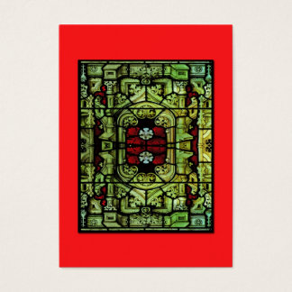 Baroque Stained Glass ATC Business Card