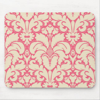 Baroque style damask background 2 mouse pads