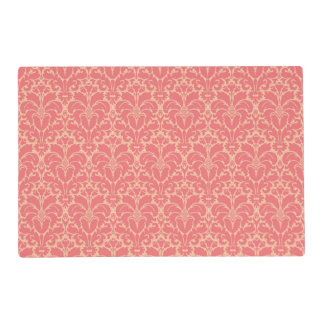 Baroque style damask background placemat