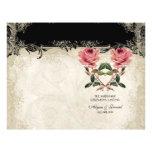 "Baroque Style Vintage Rose Black n Cream Lace 8.5"" X 11"" Flyer"