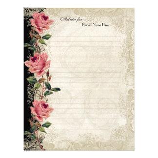 Baroque Style Vintage Rose Black n Cream Lace Flyer