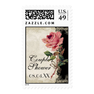 Baroque Style Vintage Rose Black n Cream Lace Stamps