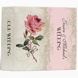 Baroque Style Vintage Rose Blush n Cream Lace Binder