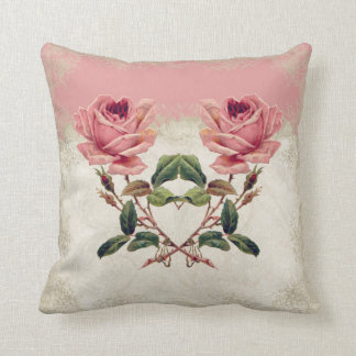 Baroque Style Vintage Rose Lace Pillows