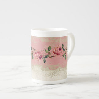 Baroque Style Vintage Rose Lace Tea Cup