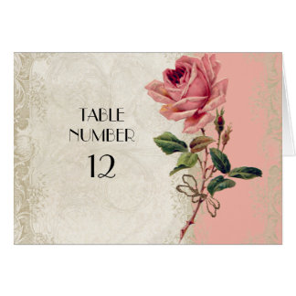 Baroque Style Vintage Rose Salmon n Cream Lace Cards