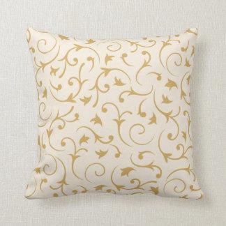 Baroque Swirls – Cream & Gold Pillows