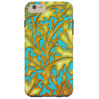Baroque Teal Gold Thistle Tough iPhone 6 Plus Case