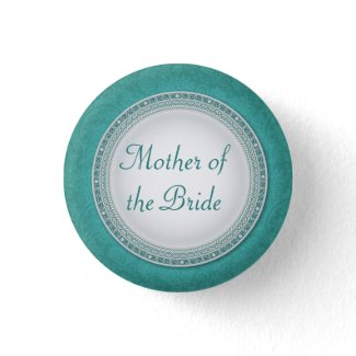 Baroque Turquoise Plaque Wedding Role Button button