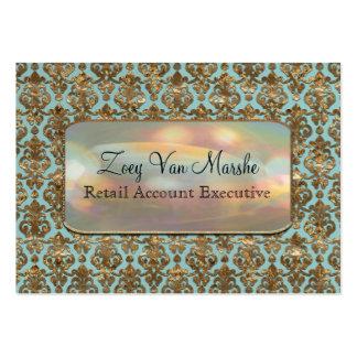 Baroque Van Marcha Elegant Damask Professional Business Cards