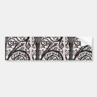 Baroque Vintage Architectural Decorative Ironwork Bumper Sticker