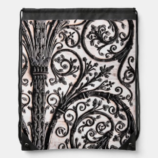 Baroque Vintage Architectural Decorative Ironwork Drawstring Bags