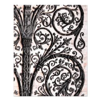 Baroque Vintage Architectural Decorative Ironwork Flyer