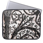 Baroque Vintage Architectural Decorative Ironwork Laptop Sleeves