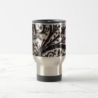 Baroque Vintage Architectural Decorative Ironwork 15 Oz Stainless Steel Travel Mug