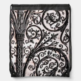 Baroque Vintage Architectural Decorative Ironwork Drawstring Bags