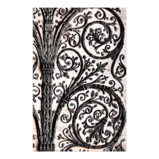 Baroque Vintage Architectural Decorative Ironwork Stationery