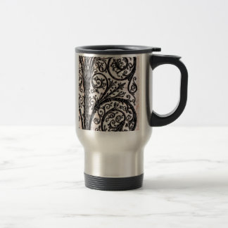 Baroque Vintage Architectural Decorative Ironwork Travel Mug