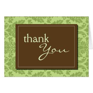 Baroque Vintage Green Thank You Card