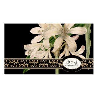 Baroque Vintage Lily Formal Wedding Table Seating Double-Sided Standard Business Cards (Pack Of 100)
