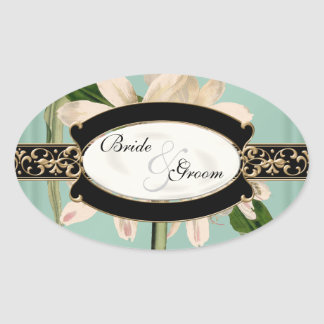 Baroque Vintage Lily Gold Formal Favor Gift Tags