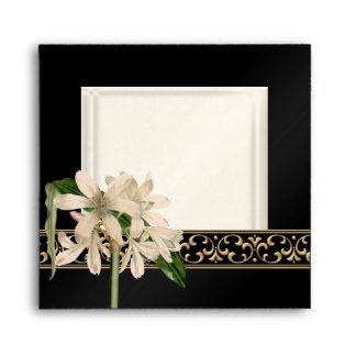 Baroque Vintage Lily Gold Formal Matching Envelope