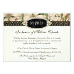 Baroque Vintage Lily Gold Formal Save the Date 6.5x8.75 Paper Invitation Card