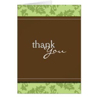 Baroque Vintage Seagrass Green Thank You Card