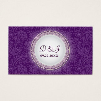 Baroque Violet Plaque Special Occasion Placecard Business Card