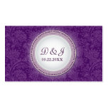 Baroque Violet Plaque Special Occasion Placecard Business Cards