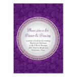 Baroque Violet Plaque Wedding Reception Card Business Card