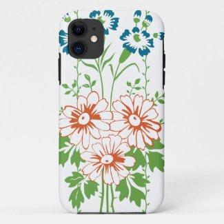 Baroque Wallpaper Flower bouquet... iPhone 11 Case