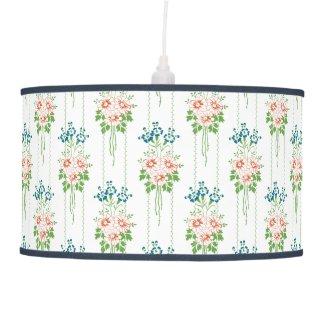 Baroque Wallpaper Flower bouquet Ceiling Lamp
