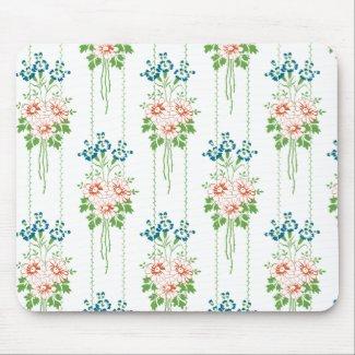 Baroque Wallpaper Flower bouquet... Mouse Pad