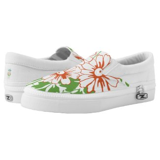 Baroque Wallpaper Flower bouquet... Slip-On Sneakers