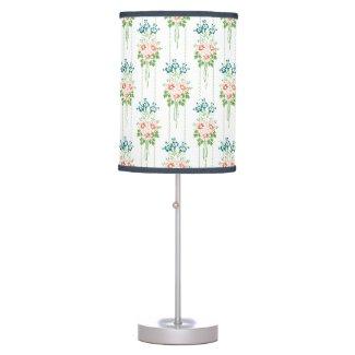 Baroque Wallpaper Flower bouquet Table Lamp