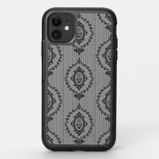 Baroque Wallpaper Grey OtterBox Symmetry iPhone 11 Case