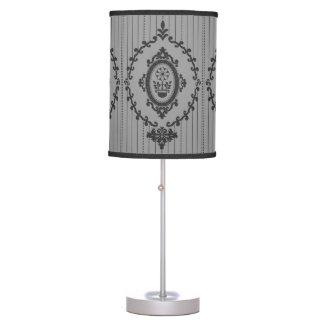 Baroque Wallpaper Grey Table Lamp