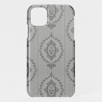 Baroque Wallpaper Grey iPhone 11 Case
