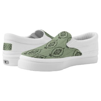Baroque Wallpaper... Slip-On Sneakers