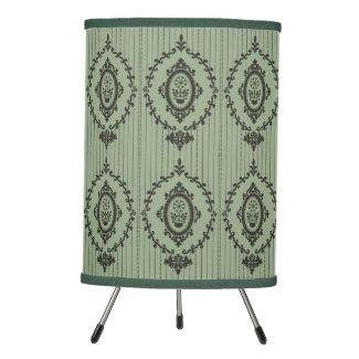 Baroque Wallpaper... Tripod Lamp
