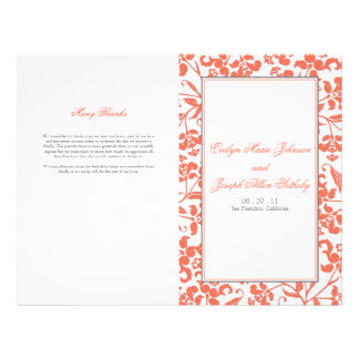 Baroque Wedding Program