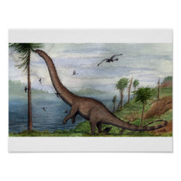 Barosaurus Pint Poster