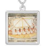 Barqueros en el Nilo, de la tumba de Sennefe Colgante Cuadrado