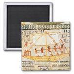 Barqueros en el Nilo, de la tumba de Sennefe Imán Cuadrado