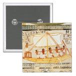 Barqueros en el Nilo, de la tumba de Sennefe Pin Cuadrada 5 Cm